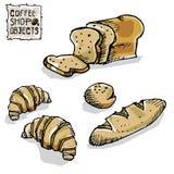 Чертеж кофе возражает d Стоковые Фотографии RF