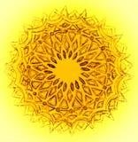 Чертеж круга в желтом цвете и коричневом цвете Стоковая Фотография RF