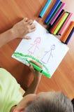 чертеж мальчика кавказский Стоковое Изображение