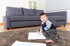 Чертеж маленького ребенка стоковые изображения rf