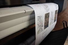 Чертеж печати прокладчика технический Стоковая Фотография