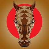 Чертеж полигона головы ` s лошади Стоковые Фото