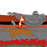 Чертеж предпосылки для памяти дня победы праздника солдат Стоковое Фото