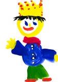 Чертеж ребенка. король с кроной иллюстрация вектора