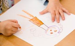 чертеж ребенка Стоковое Фото