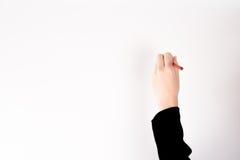 Чертеж руки в белой предпосылке Стоковые Фотографии RF