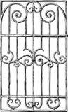 Чертеж руки декоративного гриля окна иллюстрация вектора