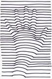чертеж руки 3D striped Стоковые Фото