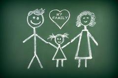 Чертеж семьи Стоковое Изображение RF