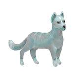 Чертеж серой фантастической собаки в стиле карандашей цвета Эскиз  Стоковые Фотографии RF