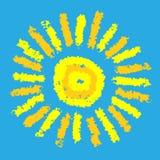Чертеж солнца Стоковое Изображение RF