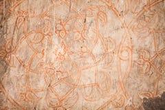 Чертеж цветка на стене Стоковые Изображения