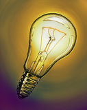 Чертеж электрической лампочки Стоковые Фото