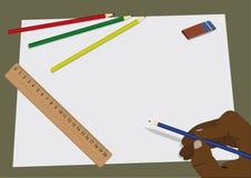 чертеж Иллюстрация вектора