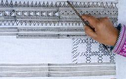 Рисовать на ткани Стоковая Фотография RF