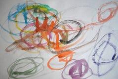 Чертеж ` s детей Диаграмма краски иллюстрация вектора