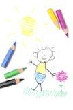 чертеж s ребенка Стоковое Фото