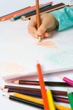 чертеж s ребенка Стоковая Фотография