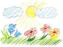 чертеж s ребенка Стоковые Фотографии RF