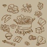 Чертеж Sukiyaki Стоковые Фотографии RF