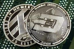 Черточка современный путь обмена и эта секретная валюта удобные середины оплаты в рынках финансовых и сети стоковая фотография