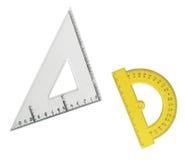 чертя изолированные инструменты измерения Стоковое Изображение