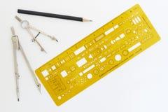 чертя электрическая восковка аппаратур Стоковая Фотография RF
