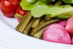 Чеснок, зеленые фасоли - овощи Стоковые Фотографии RF