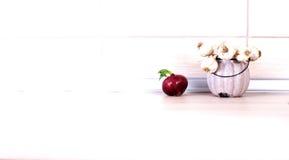 Чеснок и лук на countertop стоковая фотография rf