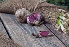 Чеснок и лук Стоковое фото RF