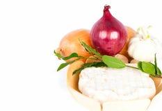 чеснок сыра залива свежий выходит лук Стоковое Изображение