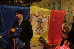 Чествование короля Mihai на королевском дворце в Бухаресте, Румынии Стоковое Изображение RF