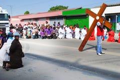 ЧЕСТВОВАНИЕ СТРАСТИ ХРИСТОСА Стоковое фото RF