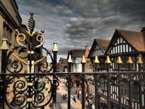 Честер огороженный город в Чешире, Англии стоковые изображения rf
