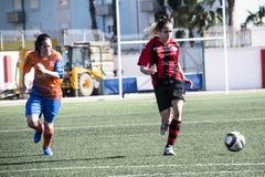 Четвертьфиналы чашки утеса Гибралтара - футбол - Манчестер 62 0 Стоковое фото RF
