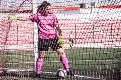 Четвертьфиналы чашки утеса Гибралтара - футбол - Манчестер 62 0 Стоковые Фото
