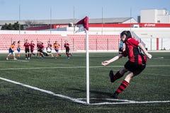 Четвертьфиналы чашки утеса Гибралтара - футбол - Манчестер 62 0 Стоковые Фотографии RF