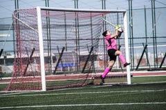 Четвертьфиналы чашки утеса Гибралтара - футбол - Манчестер 62 0 Стоковое Изображение