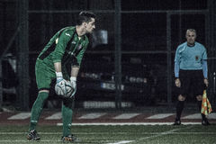 Четвертьфиналы чашки утеса Гибралтара - футбол - Манчестер 62 0 Стоковые Изображения