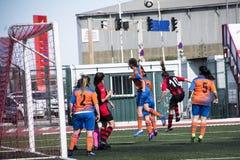 Четвертьфиналы чашки утеса Гибралтара - футбол - Манчестер 62 0 Стоковое Изображение RF