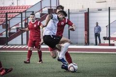 Четвертьфиналы чашки утеса Ibraltar - футбол - пункт Европы Европы 2-0 Стоковые Изображения RF