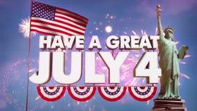 Четверть анимации в июле видео- - HD бесплатная иллюстрация
