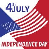 Четверть Дня независимости в июле США Стоковая Фотография