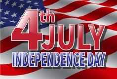 Четверть Дня независимости в июле США Стоковое Фото