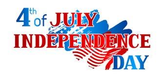 Четверть знамени Дня независимости в июле Американская патриотическая иллюстрация Стоковые Изображения RF