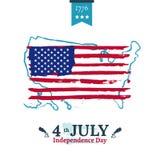 Четверть иллюстрации независимости в июле Стоковые Фото