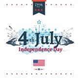 Четверть иллюстрации независимости в июле Стоковое Изображение RF