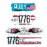 Четверть иллюстрации независимости в июле Стоковые Изображения RF