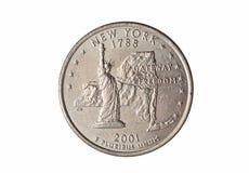 Четверть монетки доллара Стоковое Изображение RF