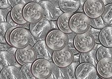 четверть монеток Стоковая Фотография